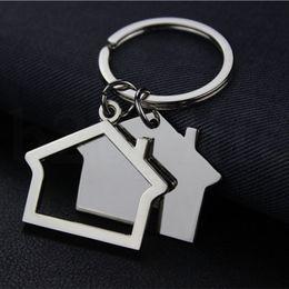 Fotocamera catene chiave online-Creativo Camera a forma di portachiavi in metallo Portachiavi casa disegno della catena auto chiave pendente chiave KKA7540 Portachiavi
