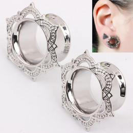 Argentina Comercio al por mayor 6mm-16mm Flesh Tunnel Singer Flared Ear Plugs Piercing Calibradores Body Jewelry Anti-Allergy Body Piercing Studs Suministro
