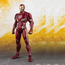 Giocattoli ad azione flash online-Nuovo The Avengers 4 Endgame SHF Ironman MK50 SHF Infinite war Acciaio bone Il modello Flash movibile in scatola Toy Action Figure Modello C33