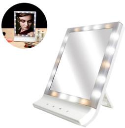 Deutschland LED Kosmetikspiegel für Kosmetikspiegel Mehrere große Wandhalterung für die Wandmontage mit 18 LED-Licht usb Kosmetikspiegel KKA6815 cheap wall mounted led lights Versorgung