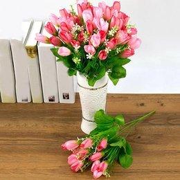 Commercio all'ingrosso- 1 mazzo 15 teste falso magnolia gemma fiore artificiale festa nuziale negozio di arredamento per la casa 48 da