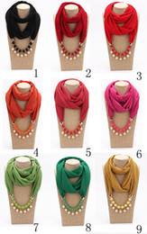 Bandanas muçulmanas para as mulheres primavera e outono moda senhora imitação de pérolas pingentes lenços lenço de chiffon liso envoltórios de