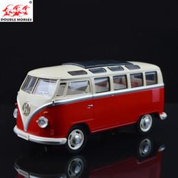 porta de ônibus Desconto Volkswagen Vw Ônibus 1:24 Diecast Alloy Diecast Modelos de Brinquedo Do Carro Coleção Em Miniatura Puxar Para Trás As Portas de Ônibus Aberta Menino Crianças Presente J190525