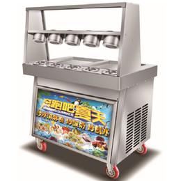 Friggere la panna di ghiaccio macchina online-Piazza Doppio BEIJAMEI fritti vaschetta del gelato Roll Machine / 110V 220V piatto Pan Thailandia Fry Ice Cream Maker