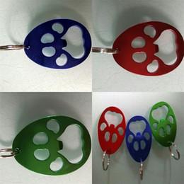 Portachiavi verde online-Apribottiglie in lega di alluminio Jack Wolf-Skin Riutilizzabili apri portachiavi creativo popolari con colore rosso blu verde 0 85dj J1