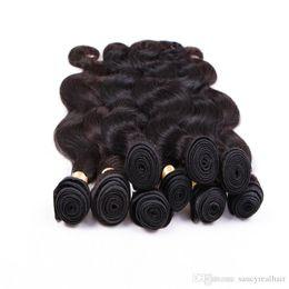 Cabello humano teje marcas online-Marca Elibess Body Wave Virgin Extensiones de cabello humano Brasileño 100 cabello humano Paquete de 100 g