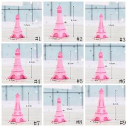 Craft item on-line-Torre Eiffel Resina Artesanato De Fadas Em Miniatura Jardim Sala De Desktop Decoração Micro Paisagem Acessório Cactus Plantador Presente Novidade Itens GGA2013