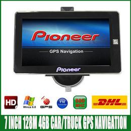 Livraison gratuite DHL 7 pouces HD camion de voiture GPS Navigation FM 4GB / 128M DDR / 800MHZ carte la plus récente pour le navigateur Russie / Espagne / Europe / USA ? partir de fabricateur