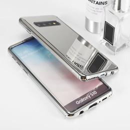 cobertura do espelho do telefone celular Desconto Espelho galvanizado caso de telefone celular capa protetora de moda para iphone x xr xs max 7 8 mais samsung s10 tampa à prova de choque por niubility