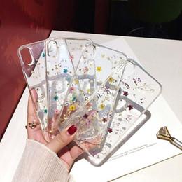 cover iphone chic Rabatt Echte getrocknete Blumen-Telefon-Kasten für iPhone XS maximales XR X 6 6S 7 8 plus transparente weiche TPU-Abdeckung Schöne schicke rückseitige Fälle