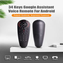 2019 laptop-zentrum Google Assistant Voice-Fernbedienung G30S 2.4G Wireless Air Mouse-Fernbedienung IR Learning GYRO Mit TV Box Smart Control arbeiten