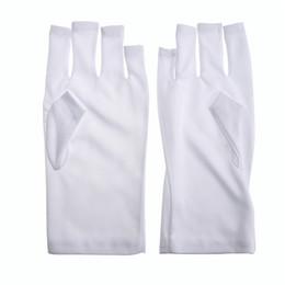 Guanti in chiodi uv online-1 Protezione Coppia di arte del chiodo del gel anti UV guanto di luce UV della lampada di protezione dalle radiazioni del manicure Strumenti Nail Art Dryer