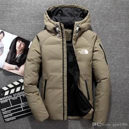 Entensportkleidung online-Winter herren daunen hoodie weiße entendaunen north jacke parka winddicht ski warme jacke outdoor freizeit kapuzen sportswear FACE