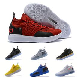 kd shoes para hombre negro Rebajas 2019 Nike Zoom KD 11 para hombre zapatillas de baloncesto Negro Blanco Eybl Todavía Emoji Crepúsculo pulso Kevin Durant 11s XI Chaussure Calzado deportivo