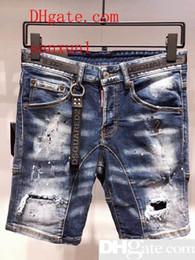 Pantalons vifs en Ligne-Bermuda Homme Jean Denim Causual Fashional De Luxe En Difficulté Shorts Planche De Skate Jogger Cheville Déchiré Vague Livraison Gratuite