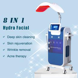 Rf heben online-2019 hydrafacial Wasser Mikrodermabrasion Haut Tiefenreinigung hydra Gesichts-Maschine Sauerstoff Mesotherapie Pistole RF Lift Hautverjüngung hydro