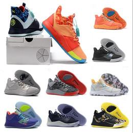 Formatori americani di bandiera online-2019 Nuovo Paul George 3 PG3 EYBL Il Master NASA Bandiera americana BHM Scarpe da pallacanestro Vendita a buon mercato Mens scarpe da ginnastica PG Sport Sneakers Size7-12
