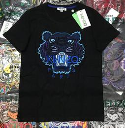 Wholesale XXLkenzo T shirt ricamate con testa di tigre maglie in puro cotone o collo pullover camicie a maniche corte marca calda te e uomo