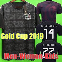 12bcdeda2d8 Gold Cup 2019 Camisetas Mexico 19 20 MEN WOMEN KIDS soccer jersey 2018  CHICHARITO LOZANO DOS SANTOS girl football shirt camisa de futbol mexico  red shirt ...