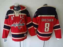 Лучшие цены на хоккейный джерси онлайн-Оптовые продажи для мужчин Washington Capitals # 77 oshie, # 8 ovechkin, # 19 backstrom red Hoodies Jersey Трикотажные изделия хоккея на льду, лучшее качество, низкая цена