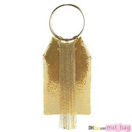 garras de flores damas de honor Rebajas Luxuey bolsas borla Diseñador Ronda de pulsera del partido de tarde del monedero del embrague del Rhinestone Bolso Bolsos