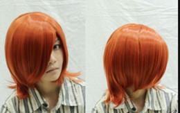 Parrucche arancioni scure online-Parrucca piena WBY JP New Cosplay Short Straight Dark Orange Orange