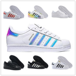 Super rose en Ligne-Adidas superstar shoes for Women And Men Super star brand top quality shoes