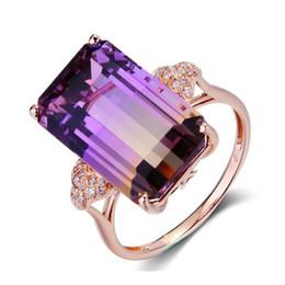 Anéis de casamento de turmalina on-line-Nova Moda Princesa Do Vintage Multi-cor Cristal Claro Banda de Noivado Anel de Noivado para As Mulheres Personalizado Imitação de Anéis de Turmalina presentes