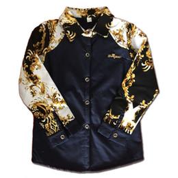 Lange zurückhemden online-Druck Baby-Kinderbluse Fall Junge T-Shirts 2019 neue Ankunfts-Art- heißen Verkaufs-Oberseiten-Bluse Zurück Outfit Kostüm