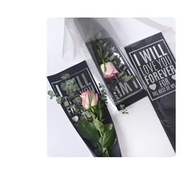 2019 silberner verpackungspapier 2018 Einzelne Blume Geschenkpapier Opp + paper Set Silber Wörter Druckwasserdicht Ohne Blume Ohne blume Mesh 20 sätze / beutel rabatt silberner verpackungspapier