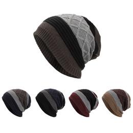 2019 sombreros de beanie fresco para las mujeres Mujeres Hombres Cálido Baggy Weave Crochet Invierno Lana Tejido Esquí Beanie Skull Caps Sombrero Sombrero fresco y cálido, sombrero maduro y lindo rebajas sombreros de beanie fresco para las mujeres