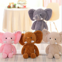 kid toy logos Promo Codes - Mini Cute Lovely Elephant Stuffed Animals Kids Baby Soft Plush Toy Birthday Gift DIY LOGO Wholesale