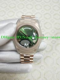 oro rosa eta Rebajas Super Factory Real Shot Reloj de lujo Rose Gold Green Rome Dial Relojes para hombre 228235 40 mm ETA 3255 movimiento Movimiento automático Nuevo estilo