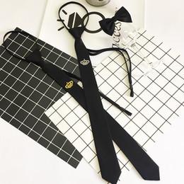 2019 fermeture à glissière Cravate de broderie Zipper Neck Wear Cravate Étroite Un homme de la Couronne Pratique Divers Styles Mode 6 5bb F1 promotion fermeture à glissière