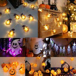 Pudcoco 14 Styles LED Halloween Lanterna de corda Grande Cara Alegre festa ao ar livre abóbora luminosos Brinquedos de Fornecedores de brinquedo por atacado anel giroscópio