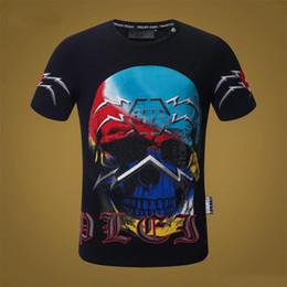 41bbfdf978 PP Skull Printed Mens Diseñador de Lujo Camisetas de Verano Casual  Masculino Femenino Hip Hop Cuello Redondo Camisetas de Manga Corta Camisetas  Inferiores ...