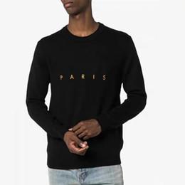 designer mens sweater Desconto Luxo Mens Designer camisolas dos Hoodies dos homens Casual Rodada Long Neck Sleeve Camisolas Mens Designer de alta qualidade camisola preta tamanho M-2XL