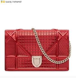 Veau Rouge Métal Chaîne En Cuir Brillant Nouveau Messenger Bag Sacs à Main Totes Sacs à Bandoulière Sacs à Dos Portefeuilles Porte Monnaie