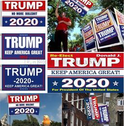 parches de engranajes tácticos Rebajas 5 estilos 90 * 150 cm Impresión de la bandera de Trump 2020 Keep America Great Banner Garden Donald Flags Poliéster Decoración Banner para el presidente EE.