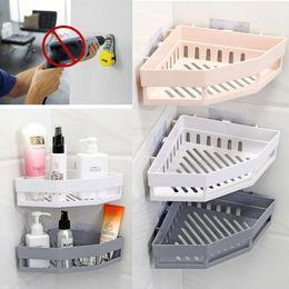 lanterna clara Desconto Organizador de suporte de armazenamento de rack de banheira de canto de banheiro de prateleira de chuveiro triangular