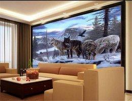нестандартный размер 3d фото обои гостиной росписи волк группа лесное дерево пейзаж картина диван тв фон обои нетканые стикер стены от