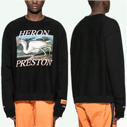 5a62074b23355 women london sweatshirts Promo Codes - London Fashion Brand Crew Neck Hoodies  Men Women Crane Printing