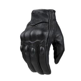 Сенсорные перчатки для женщин онлайн-Женщина Мужчины Сенсорный Экран Мотоциклетные Перчатки Кожа Дышащий Зима Лето Сенсорный Мотор Перчатки Водонепроницаемый Ретро Luvas