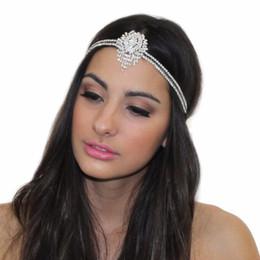 Fasce d'ispirazione ispirate online-nuova grande Gatsby ISPIRATO di cristallo pendente TIARA copricapo FASCIA