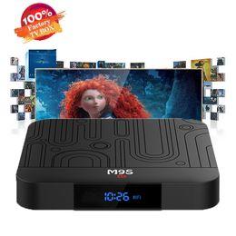 Melhor media player wi-fi on-line-Fábrica best seller M9S W1 Set-top TV Box 2 GB de RAM DDR3 16 GB Android 7.1 Amlogic S905W CPU Quad-core 2.4 GHz WiFi ROM 4 K Media Player