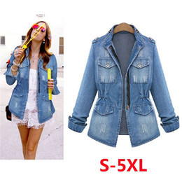 Jaqueta denim harajuku on-line-2019 BF Harajuku soltas Denim Jacket Mulheres Jeans Brasão Hip Hop Streetwear Zipper Jeans Jacket Casual Plus Size