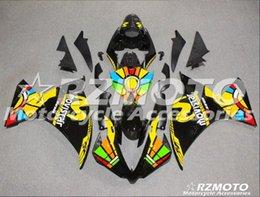 noir jaune yamaha r1 Promotion Nouvelle moto moule d'injection ABS carénages Fit Pour Yamaha YZF-R1 1000-2012-2014 12 13 14 carrosserie PREF fraîche jaune noir