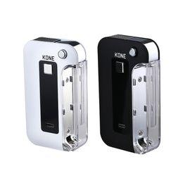 Grandes mods de bateria on-line-A capacidade grande da bateria da modificação 900mAh autêntica da caixa da aleta do cigarro da bateria E com tampa do lado da tela do diodo emissor de luz cabe o vapor de LTQ dos cartuchos 510 Vape