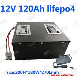 GTK Lifepo4 12V 120AH batterie au lithium BMS 12.6V pour la voiture de secours voiture de golf inverseur chariot golf RV lutte contre le feu + chargeur 10A ? partir de fabricateur