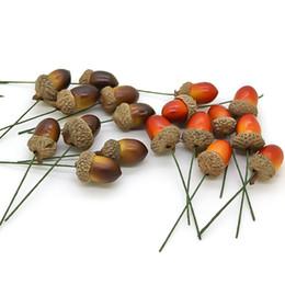 2020 frutas falsas hortalizas decoracion Barato 100pcs espuma de conos de pino mini espuma artificial de frutas y verduras bayas flores boda árbol de navidad decoración rebajas frutas falsas hortalizas decoracion